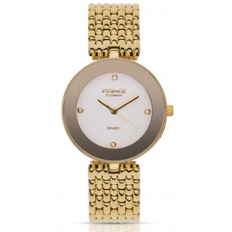PF118 שעון לנשים PRINCE בצבע כסף / זהב / לבן