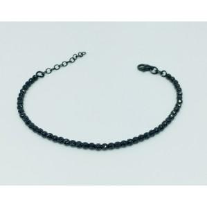 צמיד חרוזים חיתוך יהלום IPB - שחור