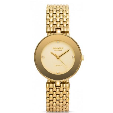 PF118 שעון לנשים PRINCE בצבע זהב