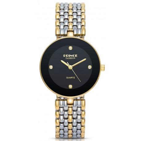 PF118 שעון לנשים PRINCE בצבע כסף / שחור / זהב