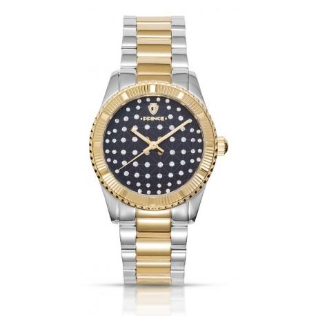 שעון לנשים Prince Sirmione בכסף, זהב וכחול